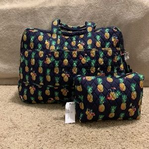 Travel Set in Toucan Party (Pineapples)